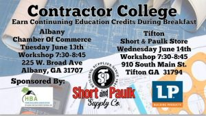 June Contractor College Albany @ Albany Chamber of Commerce | Albany | Georgia | United States